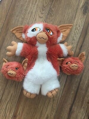 Gizmo Gremlin 2 Soft Plush toy Warner Bros Pouch In Back 2 Babies baby vintage