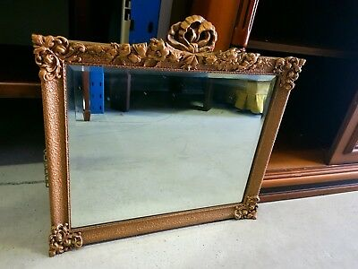 Carved Antique Gold Wall Mirror