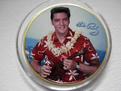 Elvis Presley Commemorative gold Coin. The King. 40th anniversary 20