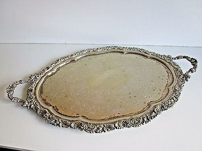 Large Victorian Silver Plated Tea / Serving Tray..Sheffield Circa 1898..