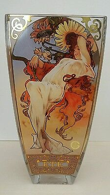 Goebel 4 Seasons (1897) glass vase 30cm