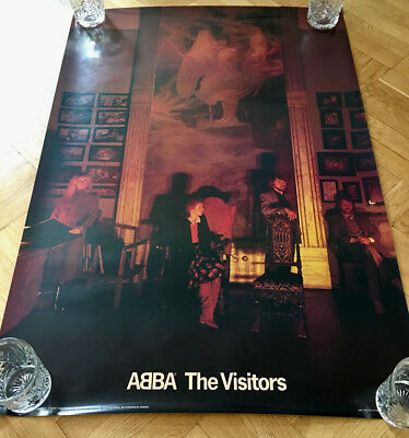 ABBA Visitors Scandecor Poster Sweden. Large Poster 100 X 70 cm from 1981 - Rare