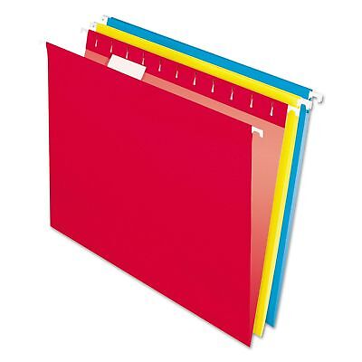 PENDAFLEX HANGING File FOLDERS RED * BLUE * YELLOW LETTER Size 1/5 Tab Box of 25