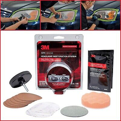 Car Truck Headlight Restoration Kit Cleaner Uv Protection Lens