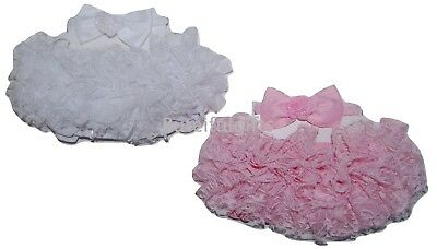 Baby Girls Gorgeous Spanish Style Lace TuTu Frilly Pants/Knickers & Headband Set