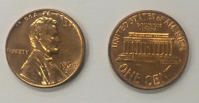 1964 D Bu Lincoln Memorial Cent Penny