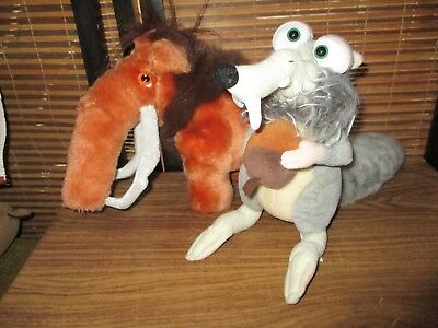 Ice Age Soft Toys Scrat and Manfred Manny Mammoth