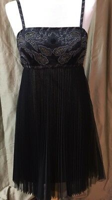 02533875fb3  59.95 Buy It Now 11d 19h. See Details. Sue Wong Nocturne Black Pleated Beaded  Cocktail Dress Size 10 NWT