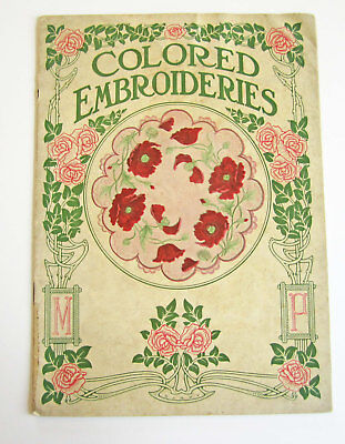 1910s Vintage Antique Colored Embroidery Catalog by Modern Priscilla