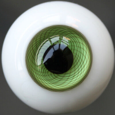[wamami] E1# 14mm Green Glass Eyes Mesh Eyes Outfit For BJD Dollfie Doll