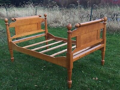 Antique 3/4 Rope Bed Birdeye Maple - One of a Kind!