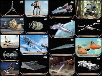 Topps Star Wars Trader Galactic Files Air Spacecrafts [17 Card Wave 1+2 SET]