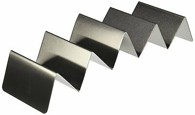 "American Metalcraft Taco Holders, Stainless, Holds 4 or 5 Tacos, 4.05"" x 13.7"""