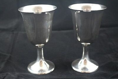 Pair of Sterling Gorham Wine/Water Goblets