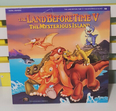 The Land Before Time V - The Mysterious Island! Laserdisc! Vintage Media! Rare!