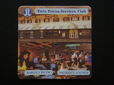 Twin Towns Services Club Baron's Bistro Pacifique Lounge Reminder Coaster