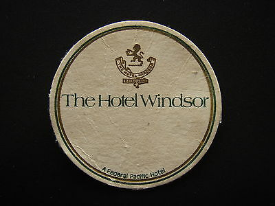 The Hotel Windsor A Federal Pacific Hotel Coaster