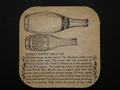Schweppervescence Lasts The Whole Drink Through Bombay Bottle Coaster
