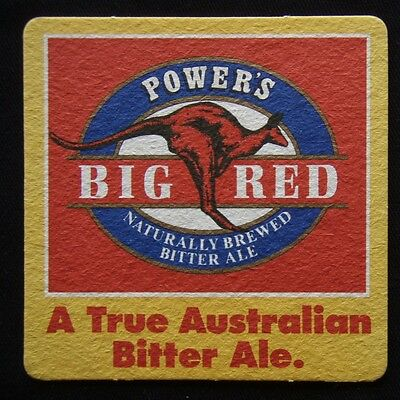 Power's Big Red A True Australian Bitter Ale Naturally Brewed Coaster (B301)