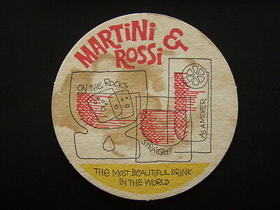 Martini & Rossi On The Rocks Straight As A Mixer Most Beautiful Drink Coaster