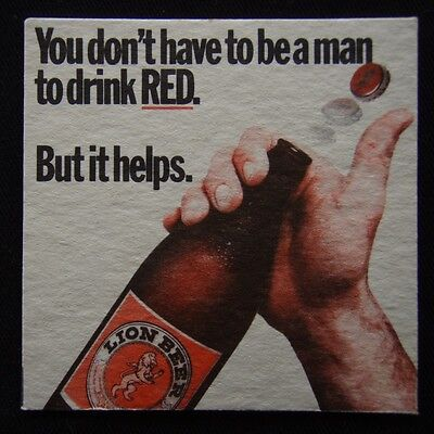 Lion Beer You Don't Have To Be A Man To Drink RED But It Helps Coaster (B304)