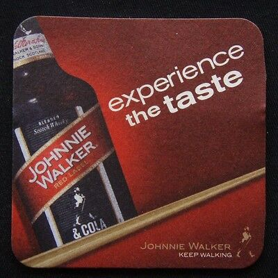 Johnnie Walker Red Label Experience The Taste Keep Walking Coaster (B267)