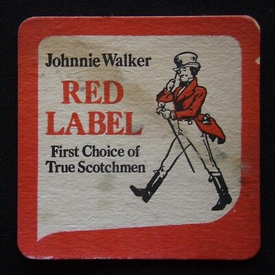 Johnnie Walker Red Label First Choice of True Scotchman Coaster (B300)