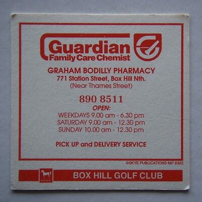 Guardian Family Care Chemist Graham Bodilly Pharmacy Box Hill 8908511 Coaster