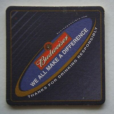 Budweiser We All Make A Difference Coaster