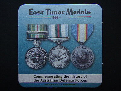 BELFIELD RSL CLUB No 6 of 6 in A.D.F. MEDAL SERIES EAST TIMOR 1999- COASTER