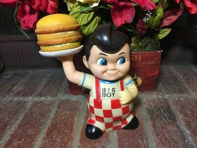 Vintage Bobs Big Boy  Coin Money Piggy Bank With Swiveling Arm!!