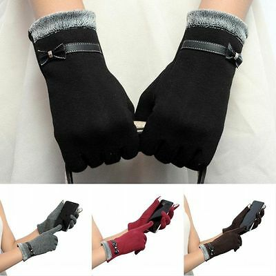 Cool Women Winter Gloves Touch Screen Warmer Gloves Outdoor Driving Mittens Gift