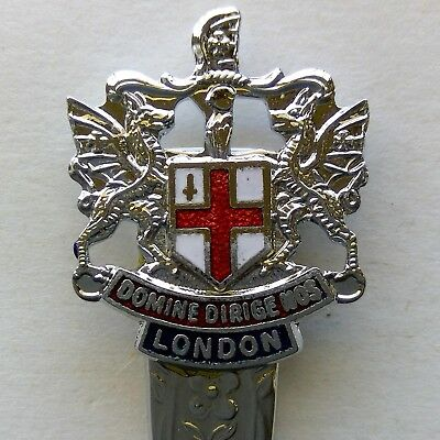 London Coat Of Arms Souvenir Spoon Teaspoon (T136)