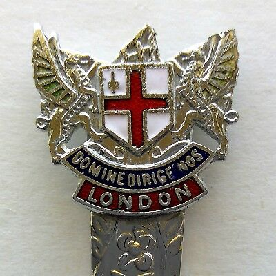 London Coat Of Arms Domine Dirige Nos Souvenir Spoon Teaspoon (T125)