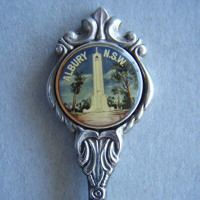 Albury NSW Monument Hill Sugar Shell Stuart Silverplated Spoon Teaspoon (T80)