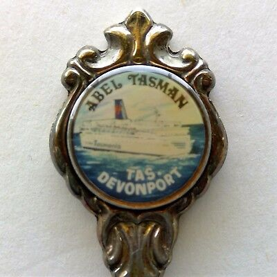 Abel Tasman Devonport Tas Stuart Silverplated Souvenir Spoon Teaspoon (T106)