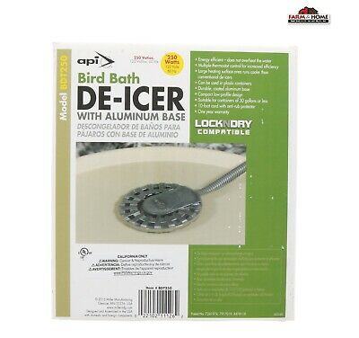 API Bird Bath De-Icer with Aluminum Base 250 Watt ~ New ~ Free Shipping
