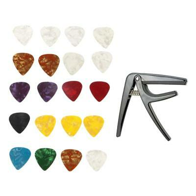Tune Quick Change Capo Clamp with 20pcs Picks for 4 String Guitar Ukulele