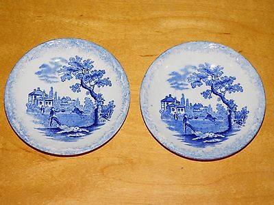 Two 4 1/8in Saucers Ridgways Scenes From Charles Dickens Old Curiosity Shop