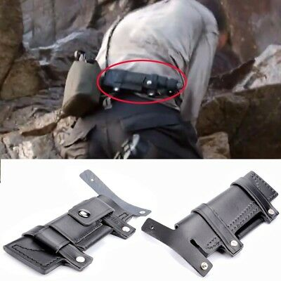 Collectable Straight Man-made Survival Leather Belt Sheath Scabbard