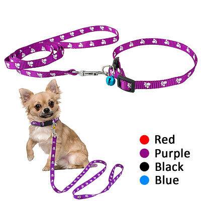 10pcs/lot Paw Print Dog Collars and Leash set for Small Medium Dogs Puppy Leash