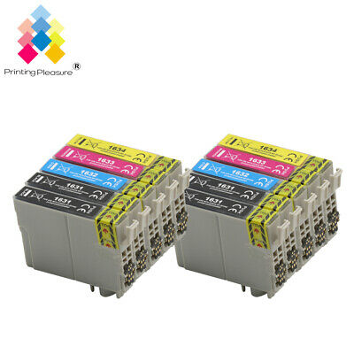 10 Ink Cartridges (Set + Bk) for Epson Workforce WF-2520NF WF-2530WF WF-2650DWF