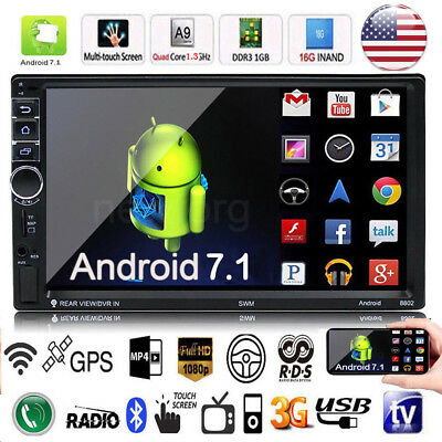"7"" 2DIN Touch Screen Car MP5 Player Bluetooth Stereo GPS Navigator FM Radio US"