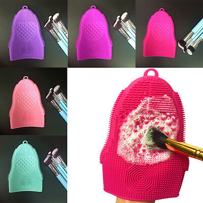 Silicone Washing Scrubber Board Cleaning Mat Hand Tool Makeup Brush Cleaner Pad
