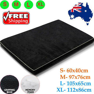 Pet Bed Memory Foam Mattress Dog Cat Pad Mat Cushion Extra Large Medium Small AU