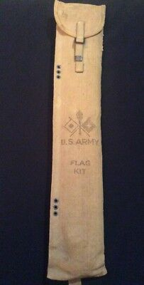 Original WWII US Army Signal Corp Flag Kit W/ Canvas Bag MS20