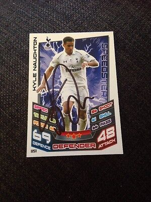 Kyle Naughton Tottenham Signed Topps Match Attax Trading Card