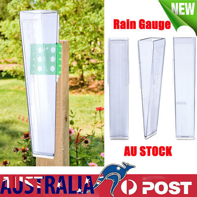150mm 6inch Easy to Read Water Rain Gauge + Mounting Plate Outdoor Home Garden