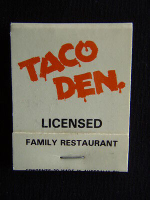 Taco Den Licensed Family Restaurant Mt Gravatt Kedron Labrador Matchbook