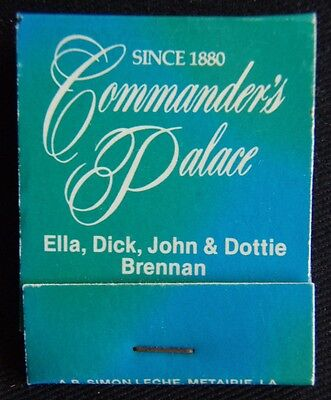 Commander's Palace Ella Dick John Dottie Brennan 504 8998221 Matchbook (Mk1A)